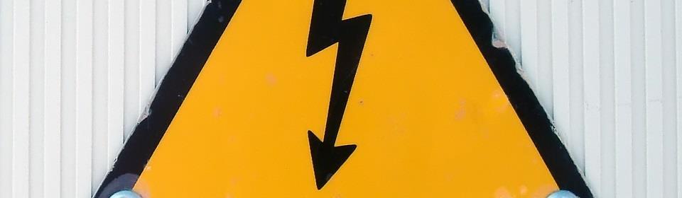 Gevaar voor hoge elektra spanning